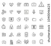 set of marketing icon with thin ... | Shutterstock .eps vector #1040046625