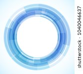 geometric frame from circles ... | Shutterstock .eps vector #1040046637
