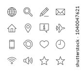set of web vector line icons.... | Shutterstock .eps vector #1040047621
