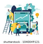 vector illustration people are... | Shutterstock .eps vector #1040049121
