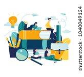 vector graphic elements.... | Shutterstock .eps vector #1040049124