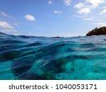 scene of tranquility island ... | Shutterstock . vector #1040053171