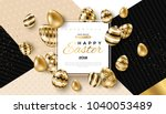 easter card with square frame ... | Shutterstock .eps vector #1040053489