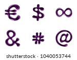 paper cut out style alphabet in ...   Shutterstock .eps vector #1040053744