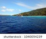 scene of tranquility island ... | Shutterstock . vector #1040054239