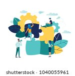 vector illustration  joint... | Shutterstock .eps vector #1040055961