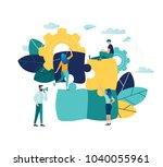 vector illustration  joint... | Shutterstock .eps vector #1040055961