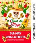 cinco de mayo fiesta... | Shutterstock .eps vector #1040057341