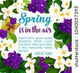 spring time poster of crocuses... | Shutterstock .eps vector #1040057395