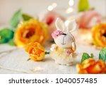 Handmade Knitted Rabbit. ...