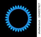 gas flame blue energy. gas... | Shutterstock .eps vector #1040057827