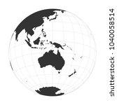 vector earth globe focused on...   Shutterstock .eps vector #1040058514