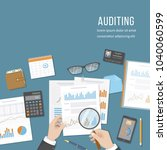 auditing concepts. auditor... | Shutterstock .eps vector #1040060599