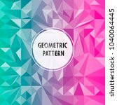 vector asymmetric pattern with... | Shutterstock .eps vector #1040064445
