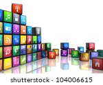 mobile applications and media... | Shutterstock . vector #104006615