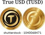 set of physical golden coin...   Shutterstock .eps vector #1040068471