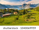 the island is in the center of... | Shutterstock . vector #1040069959