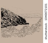 corfu  kerkyra  island  greece | Shutterstock .eps vector #1040072101
