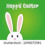 easter rabbit  easter bunny | Shutterstock .eps vector #1040072581