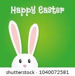 easter rabbit  easter bunny | Shutterstock .eps vector #1040072581