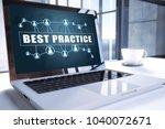best practice text on modern...   Shutterstock . vector #1040072671