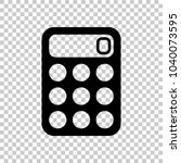 simple calculator icon. on...