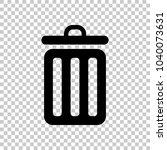 trash bin. simple icon. on... | Shutterstock .eps vector #1040073631