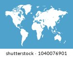 political world map | Shutterstock .eps vector #1040076901