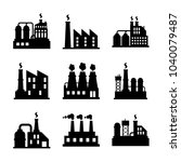 factory icon set | Shutterstock .eps vector #1040079487