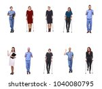 group of hospital people | Shutterstock . vector #1040080795