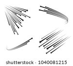 abstract falling star   black... | Shutterstock .eps vector #1040081215