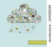 raining cloud computing and... | Shutterstock .eps vector #104008289