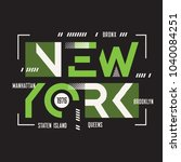 new york vector t shirt and... | Shutterstock .eps vector #1040084251