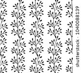 botanical seamless pattern with ... | Shutterstock .eps vector #1040088139