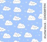 vector cloud pattern. children...   Shutterstock .eps vector #1040089594