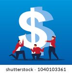 business people together to... | Shutterstock .eps vector #1040103361