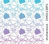 envelope mail pattern background | Shutterstock .eps vector #1040113891