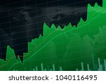 close up stock or forex chart... | Shutterstock . vector #1040116495