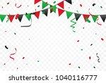Green And Red Black Confetti...
