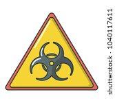 caution icon. cartoon... | Shutterstock .eps vector #1040117611