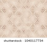 art deco seamless pattern with... | Shutterstock .eps vector #1040117734