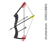 archery sport icon. isometric... | Shutterstock .eps vector #1040118841