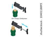 air pump corkscrew icon.... | Shutterstock .eps vector #1040118895