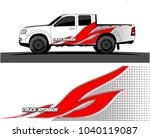 truck and vehicle graphic... | Shutterstock .eps vector #1040119087