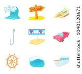 aquatic adventures icons set....   Shutterstock .eps vector #1040120671