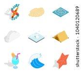 aquatic icons set. isometric...   Shutterstock .eps vector #1040120689