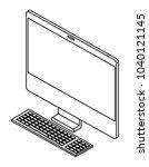 computer desktop isometric icon | Shutterstock .eps vector #1040121145