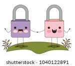 safe secure padlocks couple... | Shutterstock .eps vector #1040122891