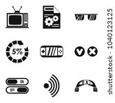 online video icons set. simple... | Shutterstock .eps vector #1040123125