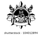 the vector image of piracy... | Shutterstock .eps vector #104012894
